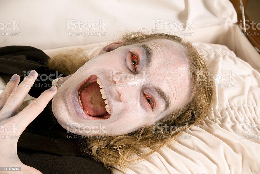 Casket & Face of Death, Spooky Screaming Dead Man, Zombie Horror