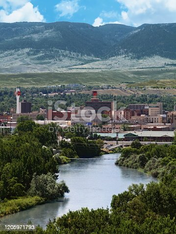 Aerial view of Casper, Wyoming, USA
