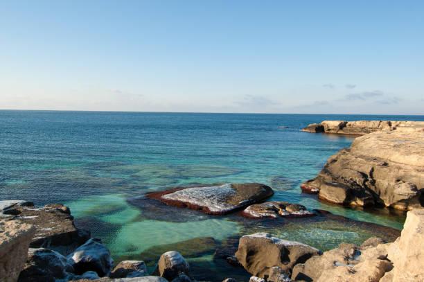 Caspian Sea - Cliff with Rocks stock photo