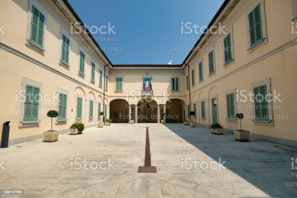 Cassano d'Adda (Milan, Italy): townhall stock photo