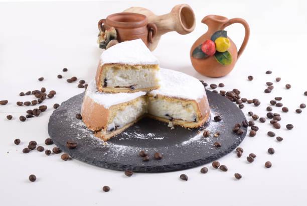 sasata siciliana, 甜配烤麗藤巧克力片和咖啡豆- - cassata 個照片及圖片檔