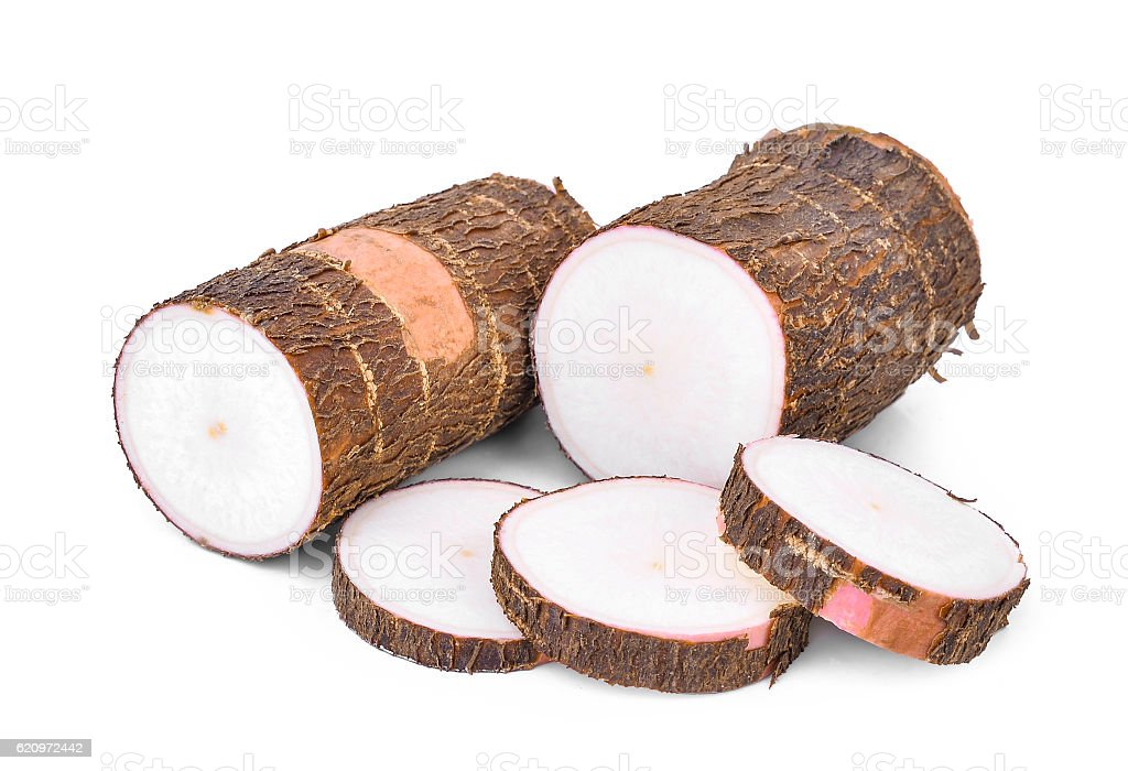 Cassava isolated on a white stock photo