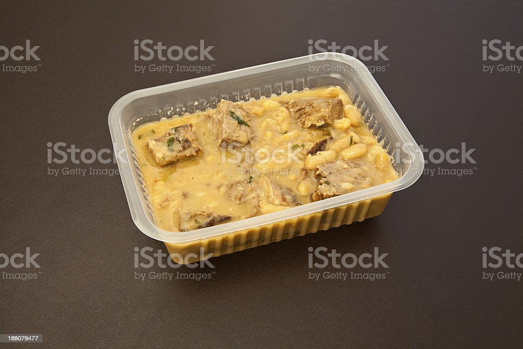 Casserole beef with white beans royalty-free stock photo