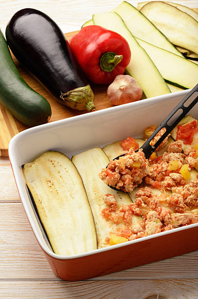 Casserole with chicken eggplant zucchini and tomatoes cooking process picture id619396584?b=1&k=6&m=619396584&s=612x612&w=0&h=t3oxh3nikml2b7iphdglv8w4niav7undibixeksoko0=