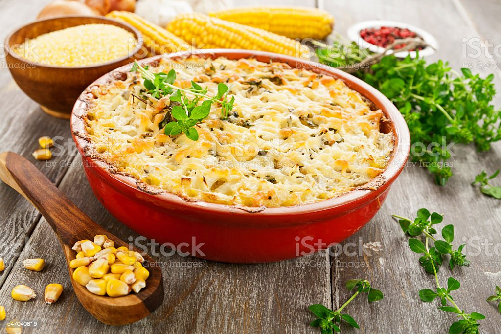 Casserole with fish royalty-free stock photo