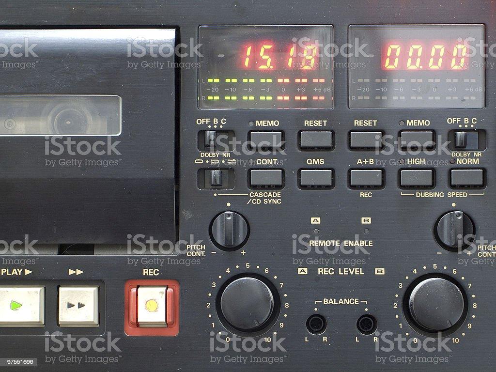 Platine à cassettes photo libre de droits