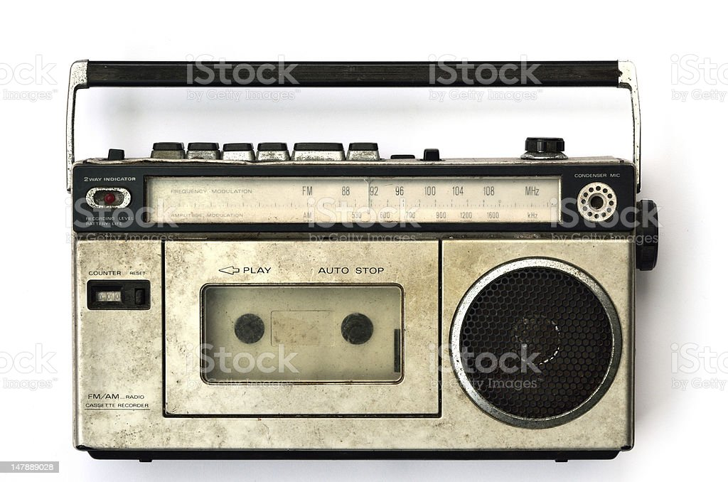 Cassette player stock photo