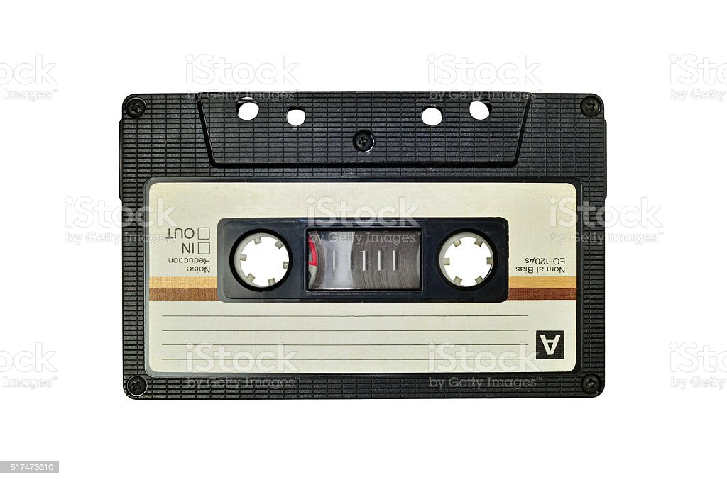 Cassette tape, isolated on white stock photo