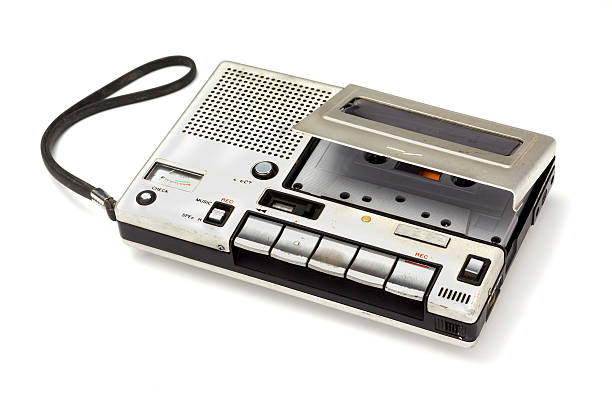cassette tape player - recorder stock photos and pictures