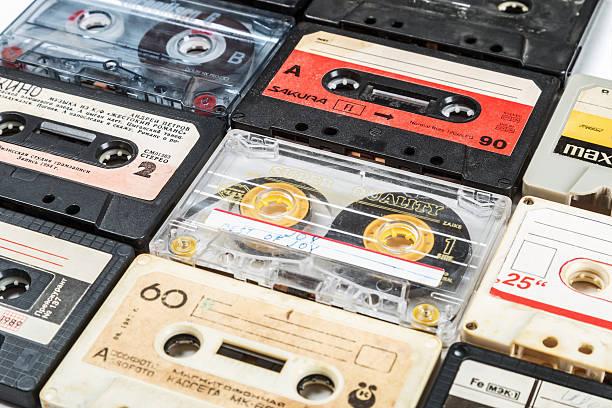 Cassette tapes of different firms Maxell, Sakura, Svema etc – Foto