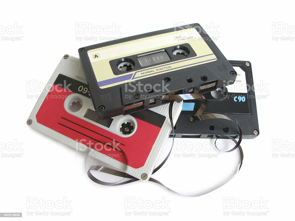 Cassette tapes royalty-free stock photo