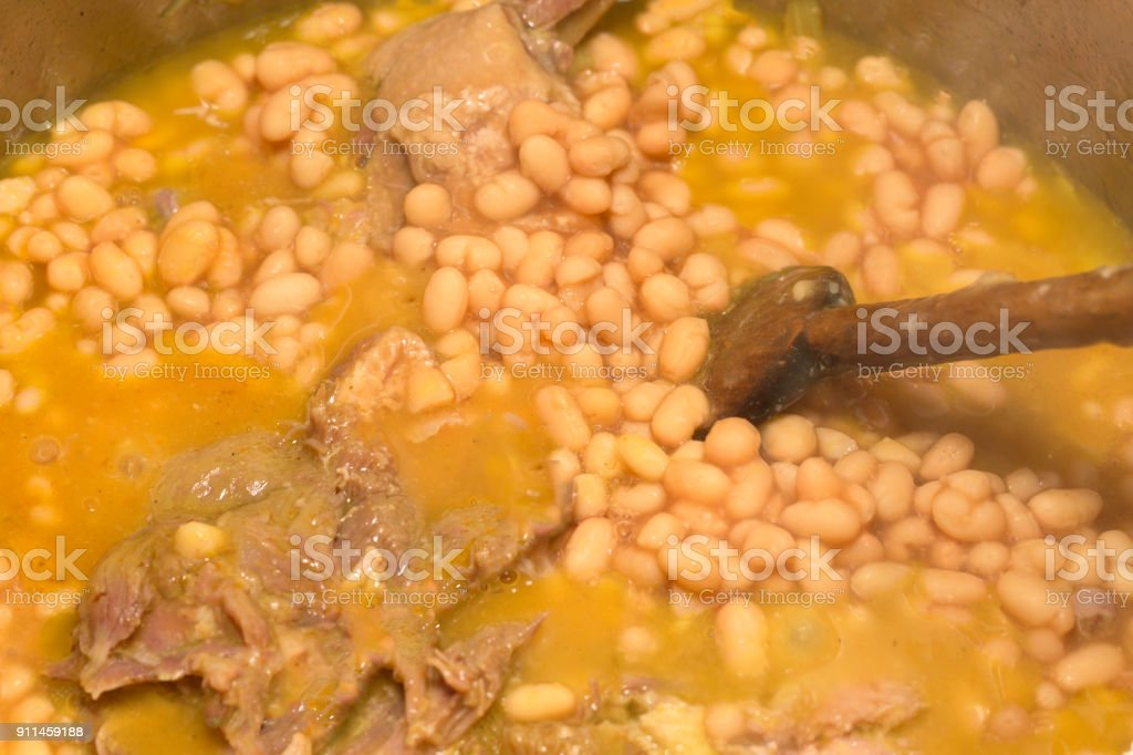 Cassoulet : french meat stock photo