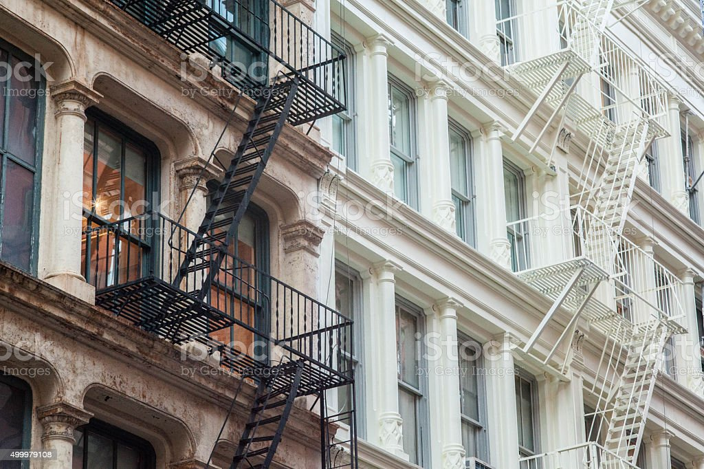 Cast Iron Building Lofts And Apartments In Nyc Stock Photo