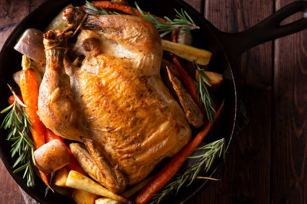 Cast Iron Chicken stock photo