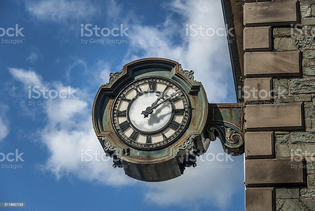 Cast Iron Clock stock photo