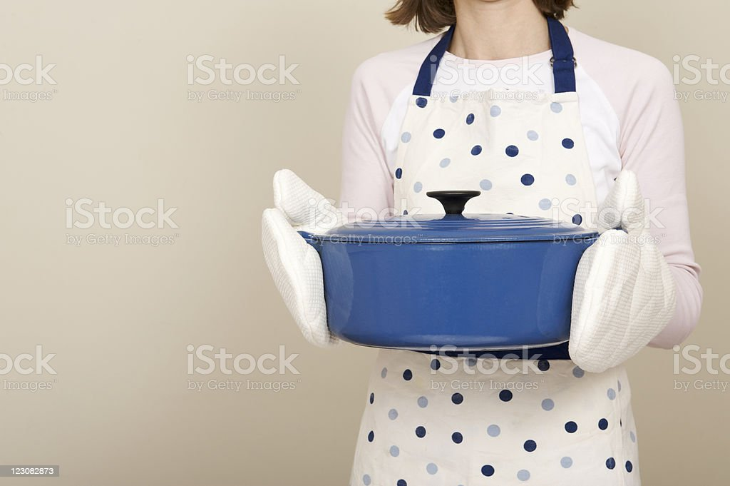 Cast iron cooking pot royalty-free stock photo