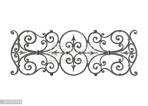 Cast iron decoration isolated over white background