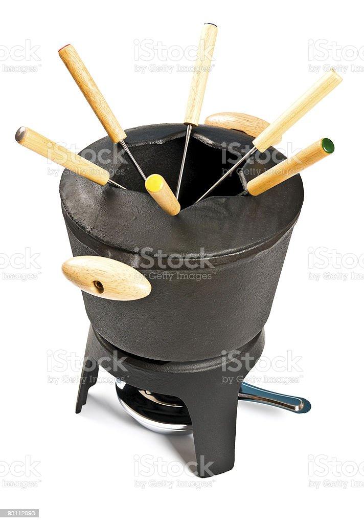 cast iron fondue set - Royalty-free Akşam yemeği Stok görsel