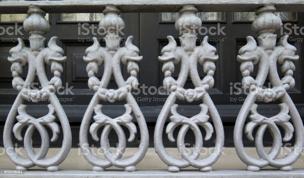 Cast iron railing ornament royalty-free stock photo
