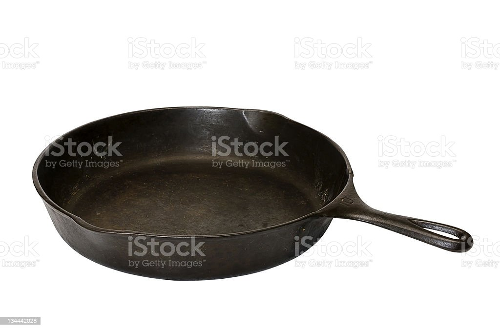 Cast Iron Skillet Isolated stock photo