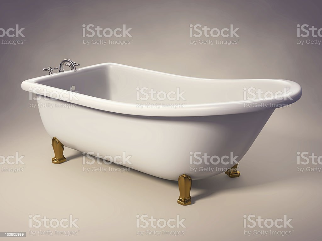Cast Iron Standing Bathtub royalty-free stock photo