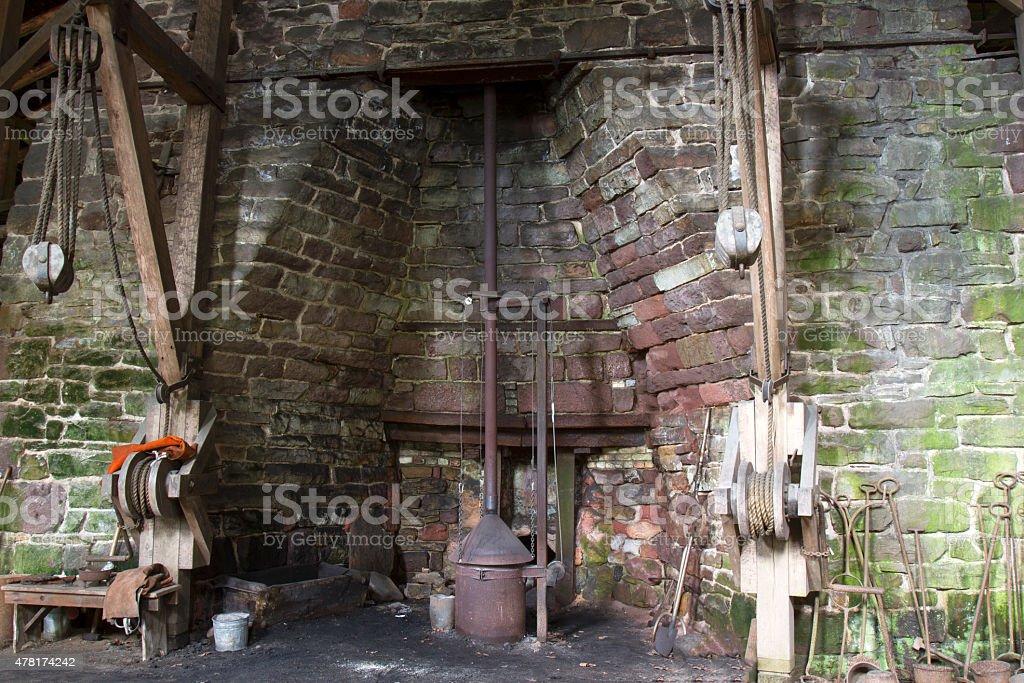 Cast iron steel works stock photo