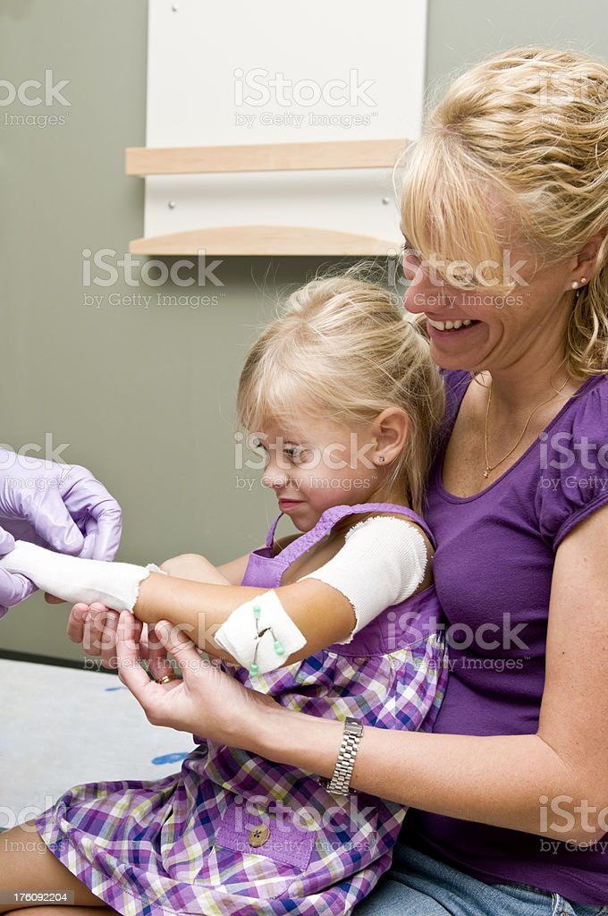 Cast on arm stock photo