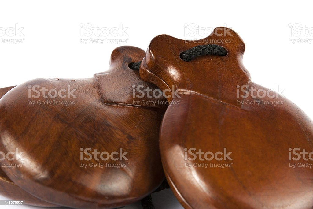 Castanets royalty-free stock photo