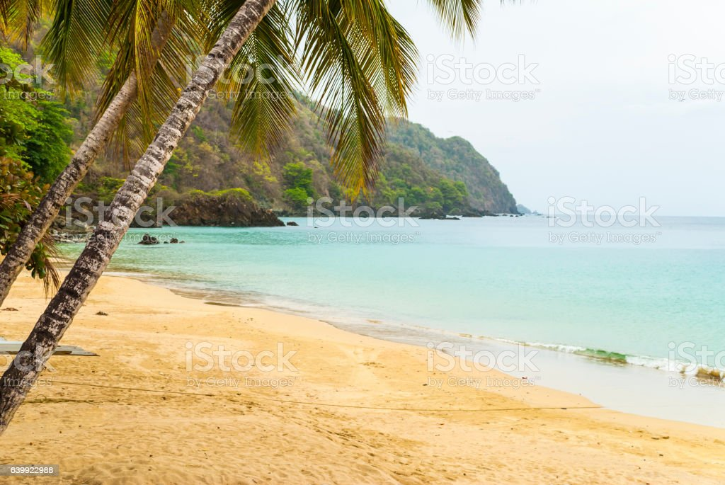 Castara bay beach, Tobago stock photo