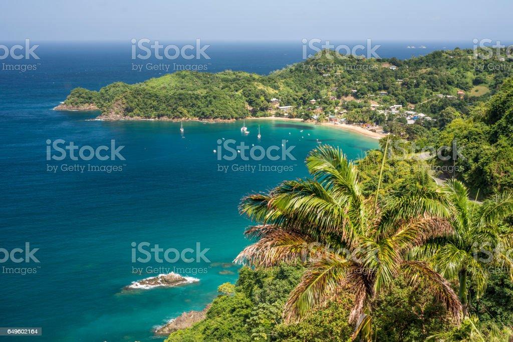 Castara Bay Caribbean beach in Tobago
