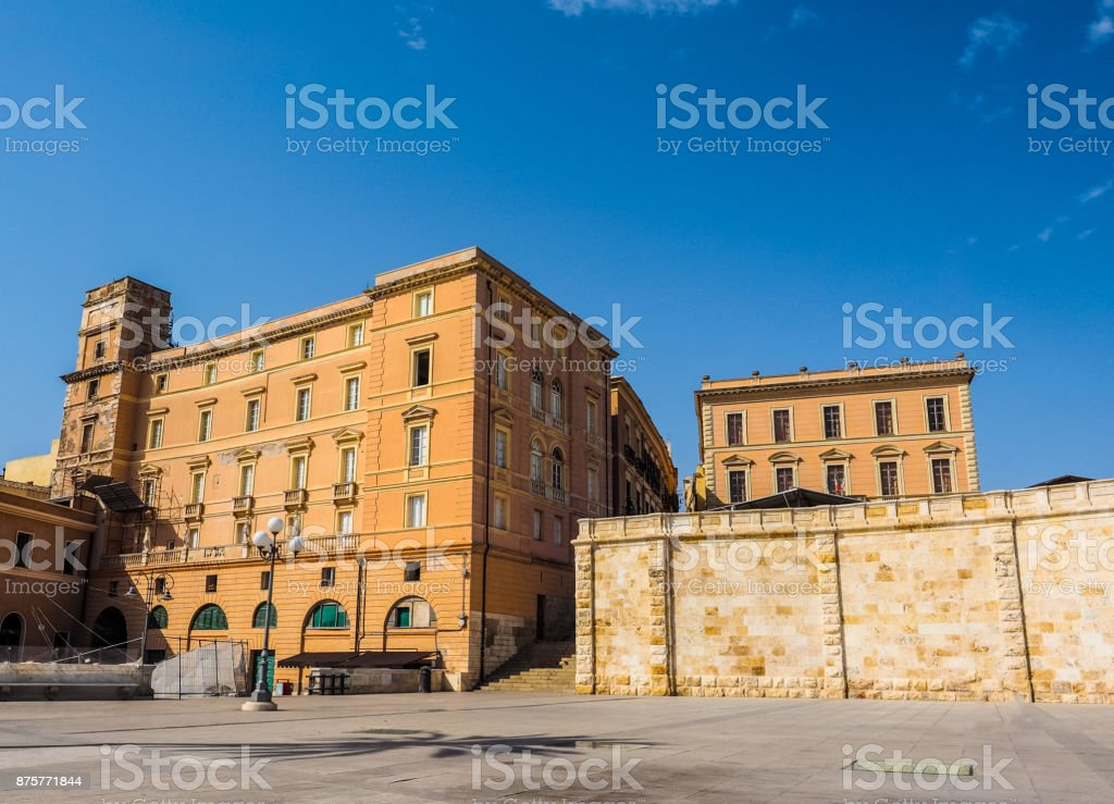 Casteddu (meaning Castle quarter) in Cagliari (hdr) stock photo