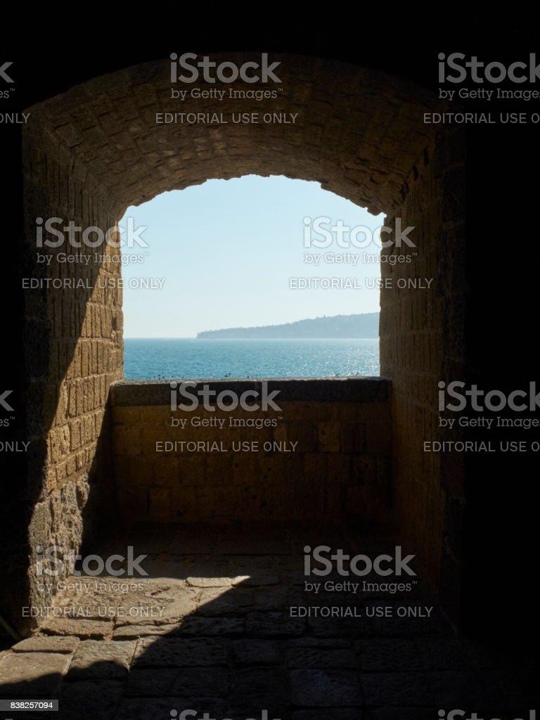 Castel dell'Ovo castle. Naples, Italy. stock photo