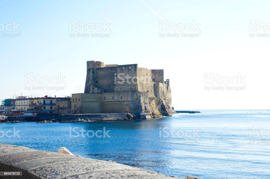 Castel dell'Ovo di Napoli - foto stock