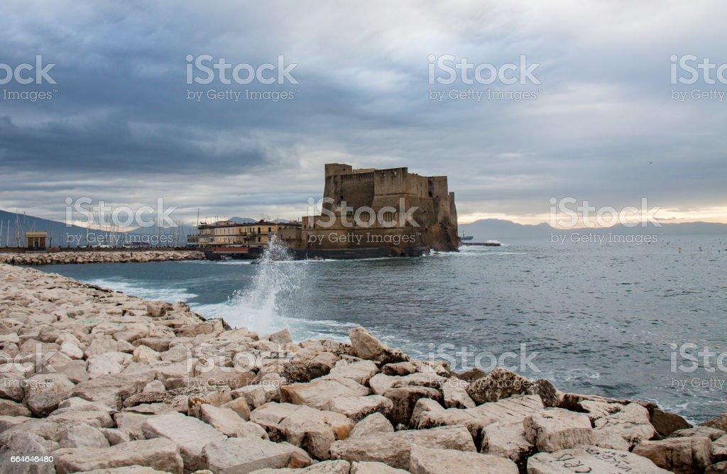 Castel dell'Ovo in Naples stock photo