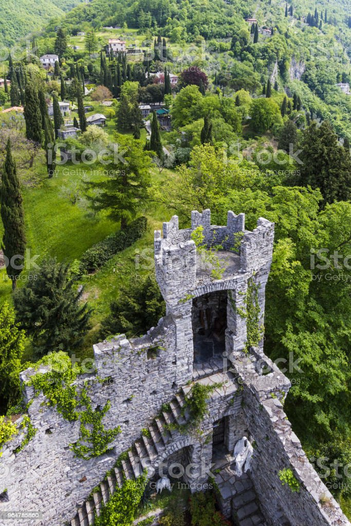 castel di vezio varenna italy stock photo