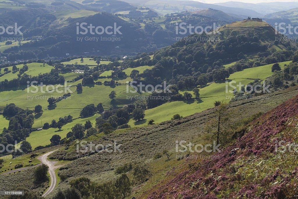 Castel Dinas Bran from Trevor Rocks royalty-free stock photo