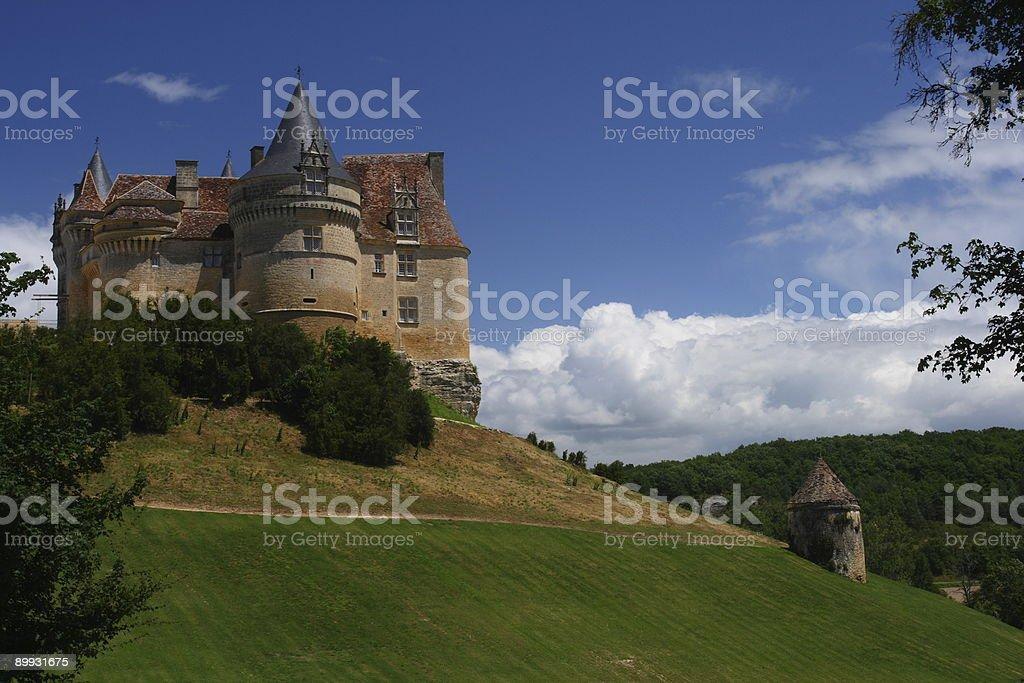 Castel in France stock photo