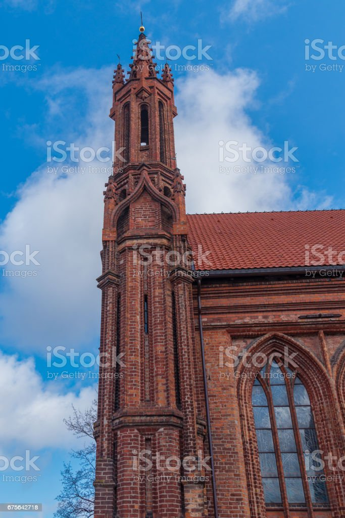Castel saint Anna and Francis of Assisi churches in Vilnius, Lithuania royalty-free stock photo