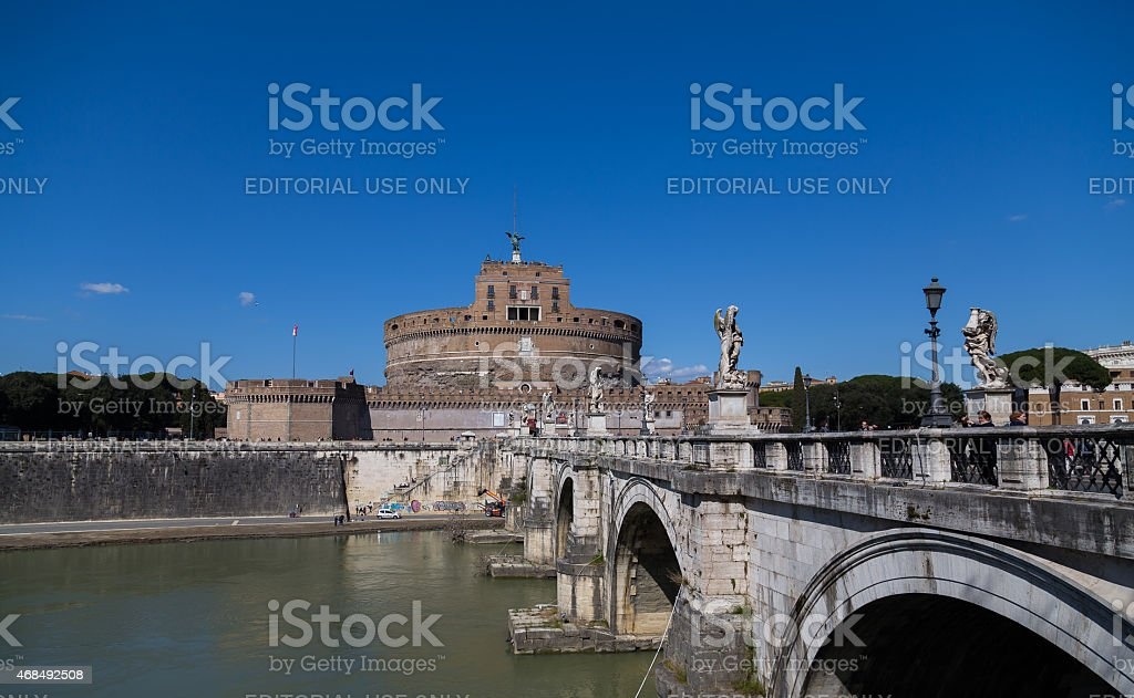 Castel Sant'Angelo (Castle of the Holy Angel) during the day stock photo