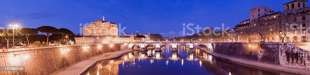 Castel Sant'Angelo in Rome Italy royalty-free stock photo