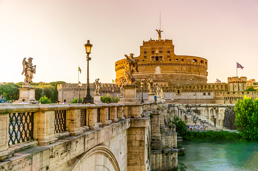 Castel Sant'Angelo in summer, Rome, Italy.