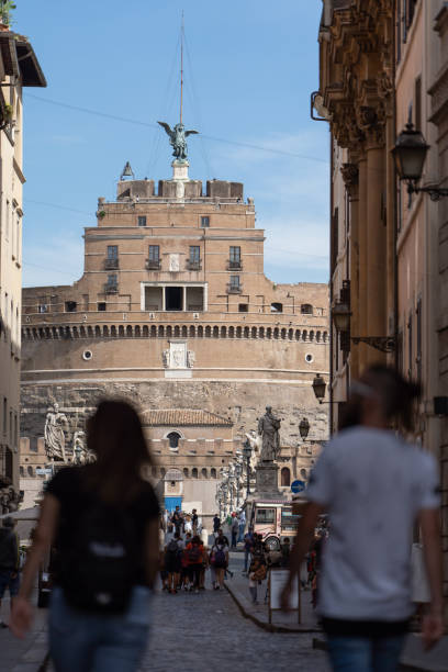 Castel Sant'Angelo view stock photo