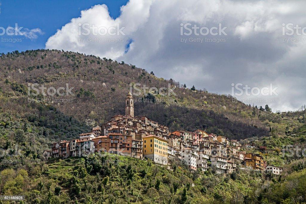 Castel Vittorio foto stock royalty-free