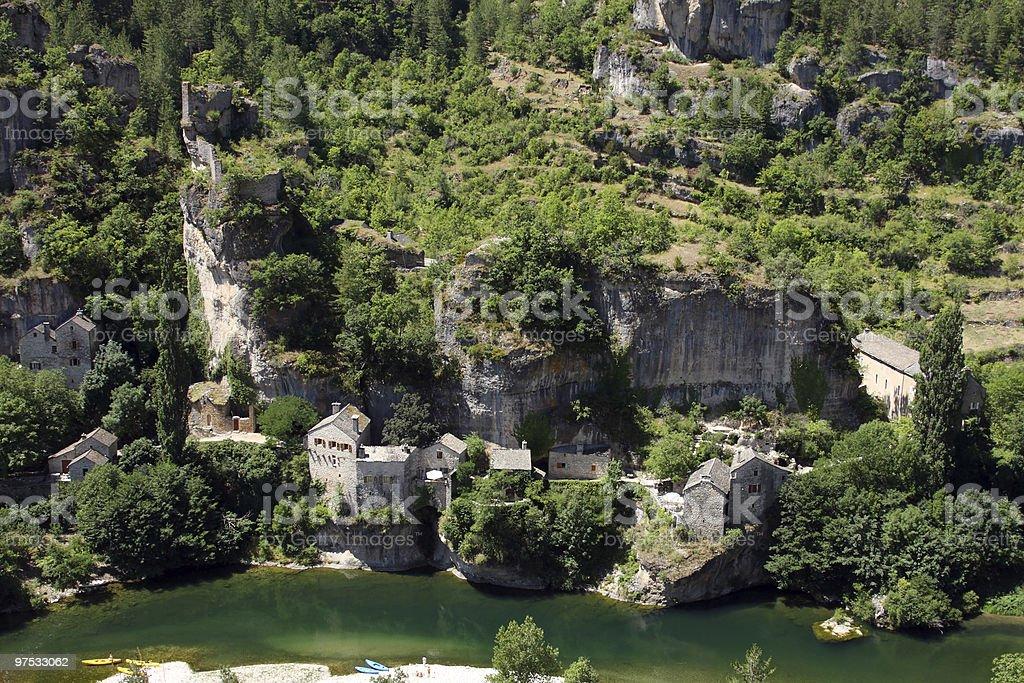 Castelbouc village royalty-free stock photo