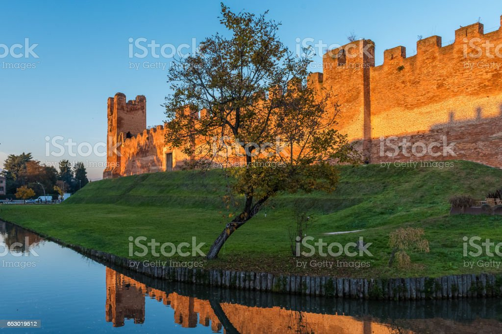 Castelfranco Veneto,Tramonto stock photo