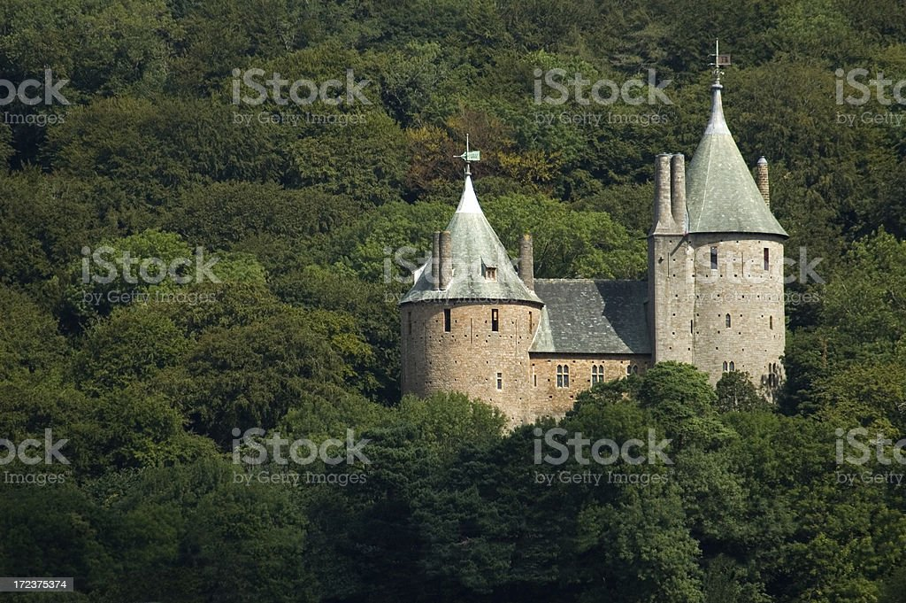Castell Coch stock photo
