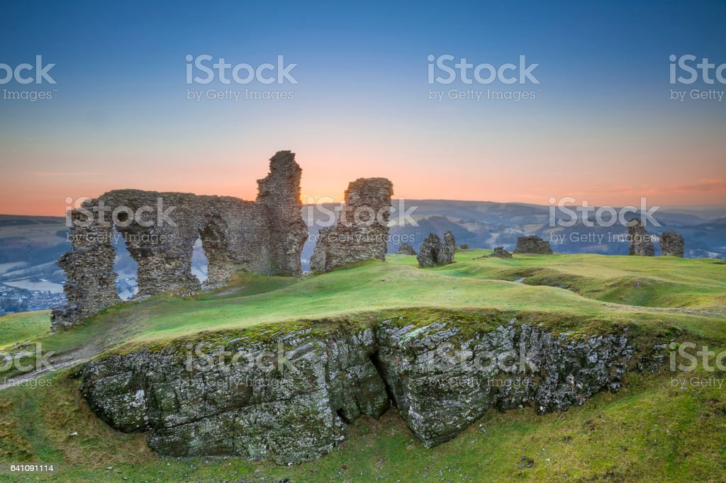 Castell Dinas Bran, Crow Castle,  Llangollen stock photo