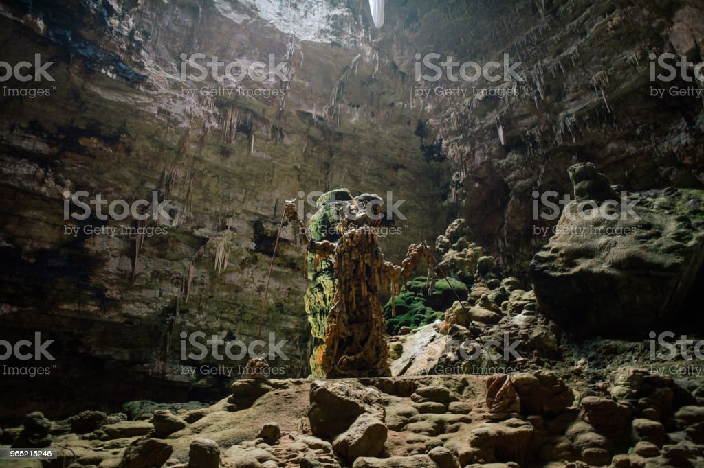 Castellana Grotte cave in apulia Italy royalty-free stock photo