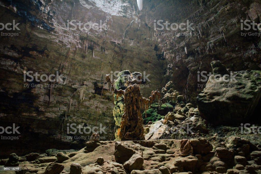 Castellana Grotte cave in apulia Italy zbiór zdjęć royalty-free