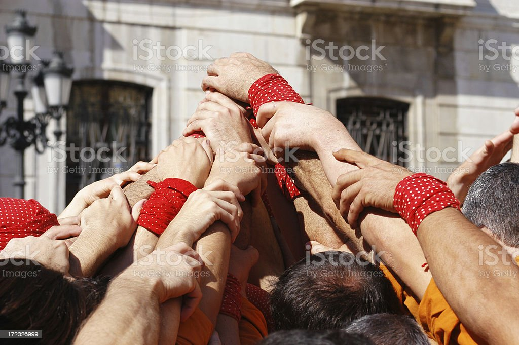 Castellars Hands, Tarragona, Spain royalty-free stock photo